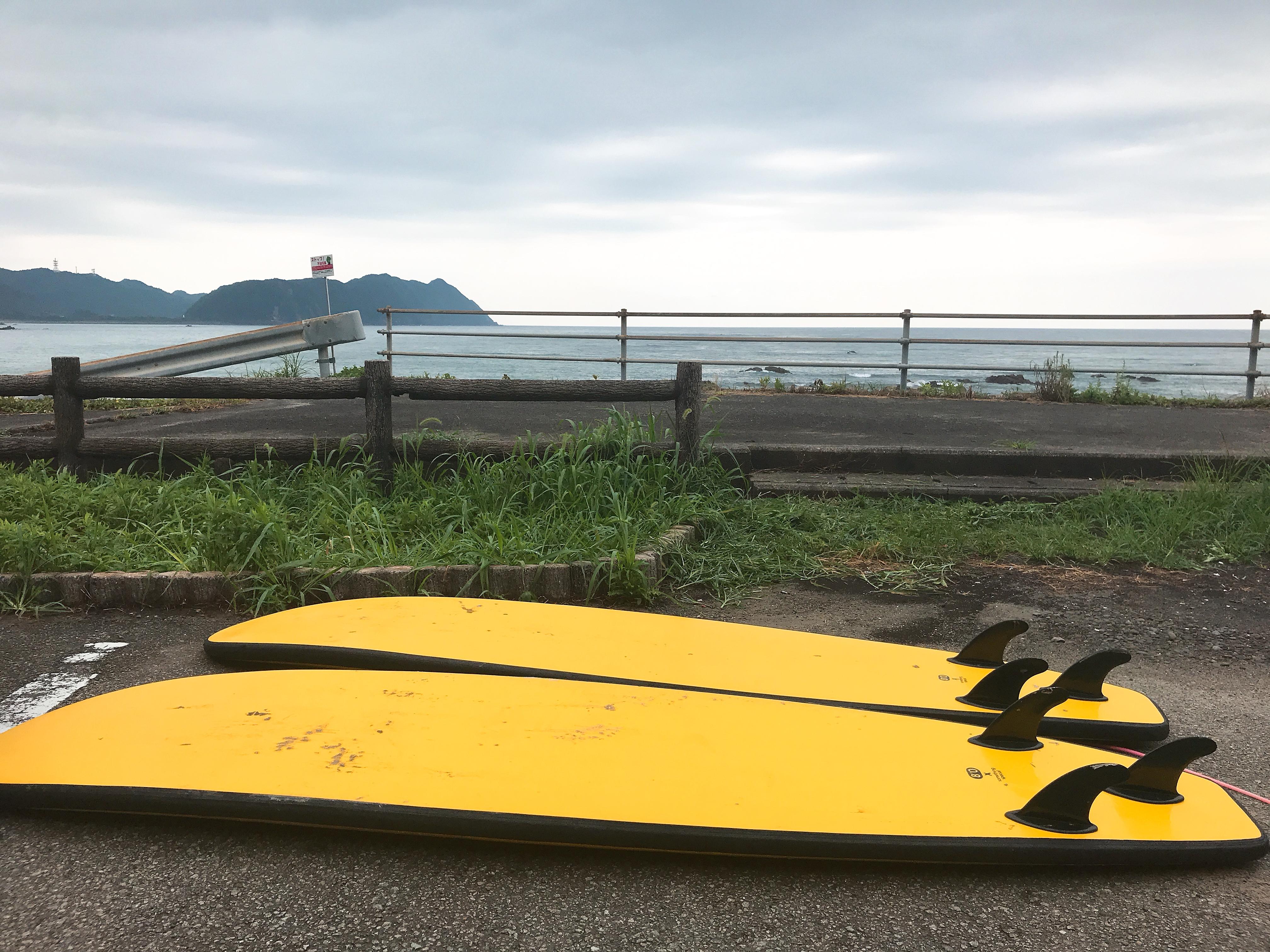 初めての徳島・宍喰海岸の波は凄かった!サーフィン面白い♪でも明日は全身筋肉痛だな(笑)