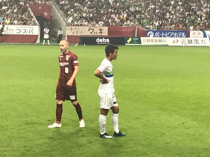 生イニエスタ見てきましたーーーーー!!!|ヴィセル神戸デビュー戦