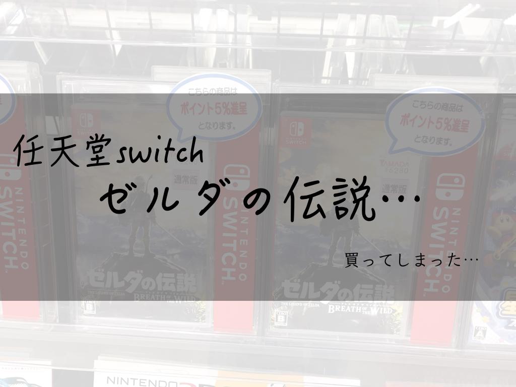 また、また、また、いらんものを買ってきてしまったよーーー!!!|ゼルダの伝説(任天堂switch)
