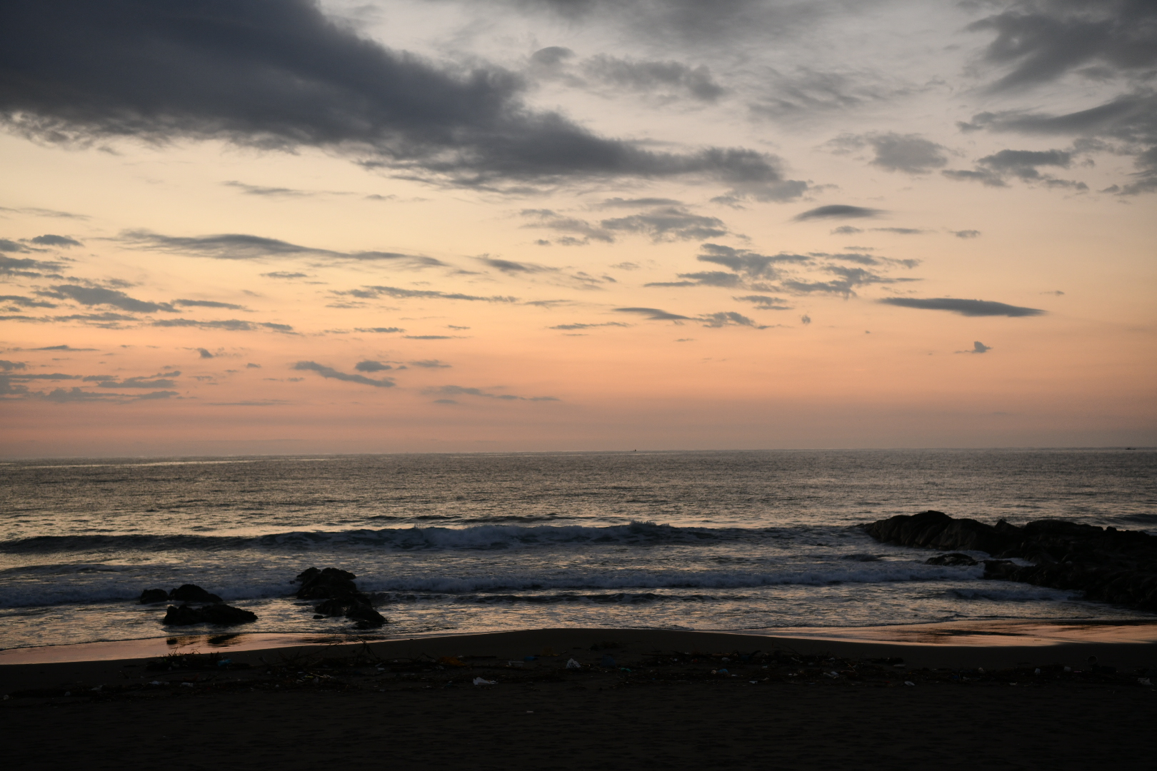 生見海岸から見た朝日が最高に感動的だった